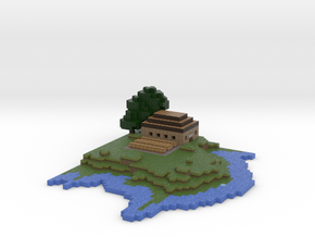 Minecraft Island Final Version in Full Color Sandstone