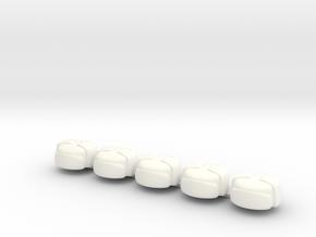 5 x Winter Cap wos in White Processed Versatile Plastic