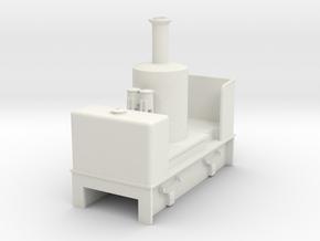 O9 vertical boiler loco   in White Natural Versatile Plastic