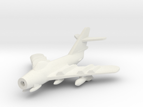 1/285 (6mm) Mig-17  in White Natural Versatile Plastic