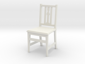 1:24 Arts & Crafts Chair, Low Back in White Natural Versatile Plastic