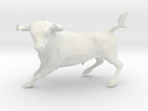 Wall Street Stock Market Bull in White Natural Versatile Plastic