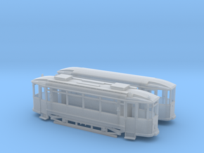 Tram Waggonfabrik Lindner Spur Nm (1:160) in Frosted Ultra Detail