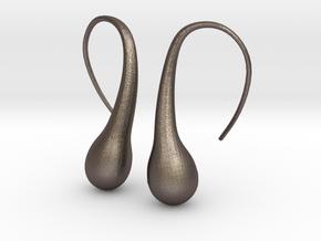 Bubble earring in Polished Bronzed Silver Steel