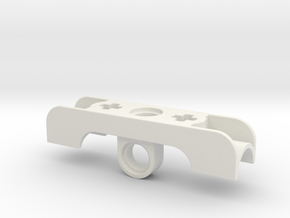 Small Cylinder Bracket in White Strong & Flexible