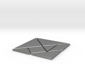 tangram in Natural Silver