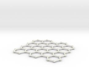 Graphene Lattice in White Natural Versatile Plastic