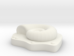 HelixFossil in White Natural Versatile Plastic