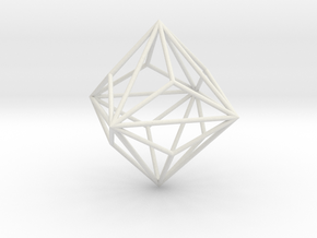 SmallTriakisOctahedron 70mm in White Strong & Flexible