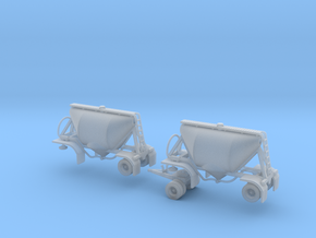 N scale 1/160 Dry Bulk Pup 07 Pair in Frosted Ultra Detail