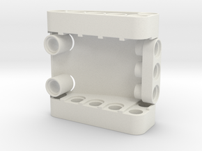 Curved 5x5x2 in White Natural Versatile Plastic