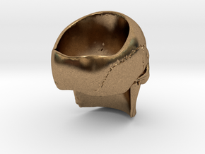 High Detail Skull Ring with Attitude (Men's or Wom in Natural Brass