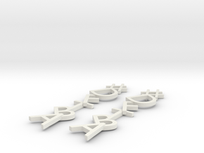 #Hashtag-Earrings - DFTBA in White Natural Versatile Plastic
