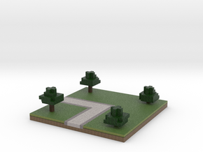 30x30 L path (trees) (1mm series) in Full Color Sandstone