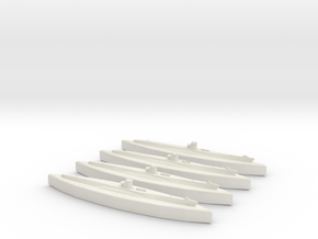 U-100 (Type VIIB U-Boat) 1/1800 x4 in White Natural Versatile Plastic