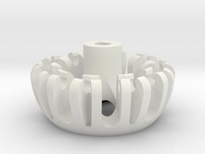 Omniwheel3 Main in White Natural Versatile Plastic