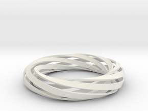 Twist Bracelet (M) in White Strong & Flexible