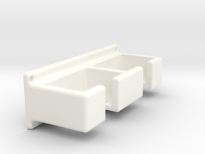 Safety razor rack  (with screw holes) in White Processed Versatile Plastic