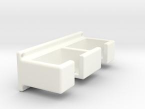 Safety razor rack  (with screw holes) in White Processed Versatile Plastic