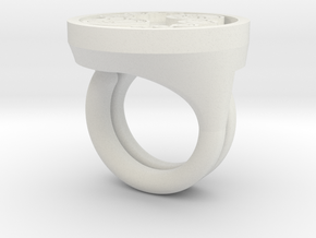 The Master Ring in White Natural Versatile Plastic