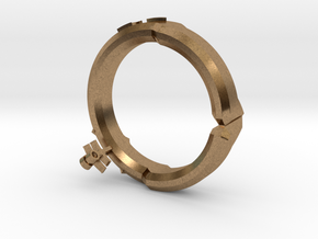 DG ring 5 in Natural Brass