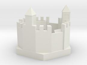 Castle 90mm rev1 in White Strong & Flexible