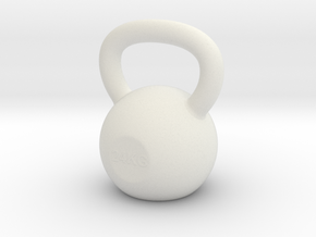 Tiny Kettlebell Pendant in White Natural Versatile Plastic