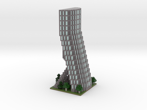 60x60 Tower04 (mix trees) (2mm series)\ in Full Color Sandstone