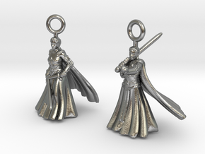 Nell earrings in Natural Silver