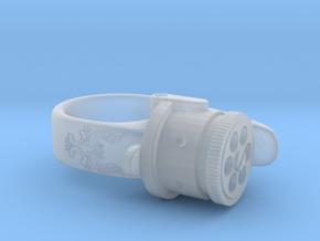 Steampunk Ring Revolver in Smooth Fine Detail Plastic