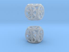 Gear Die - D6 2 Pack in Smooth Fine Detail Plastic