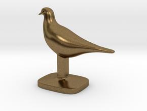 Pigeon Bird in Natural Bronze