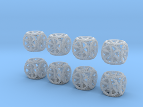Gear Dice - D6 8 Pack in Smooth Fine Detail Plastic