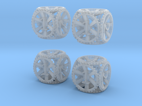 Gear Dice - D6 4 Pack in Smooth Fine Detail Plastic
