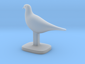 Pigeon Bird in Smooth Fine Detail Plastic
