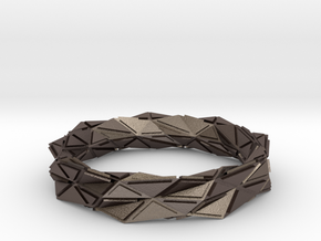 Facette (M) in Polished Bronzed Silver Steel
