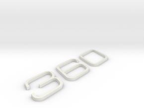 KEYCHAIN 360 INSERTS in White Natural Versatile Plastic