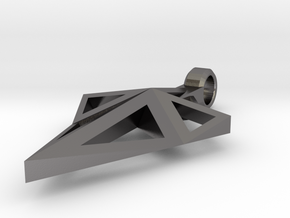Spearhead Pendant  in Polished Nickel Steel