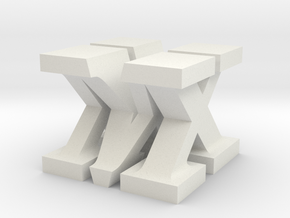 MX Sculpture in White Natural Versatile Plastic