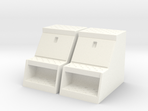 """1/14th Scale Toolbox, 18"""" to fit Tamiya trucks in White Strong & Flexible Polished"""