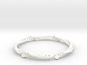 Sine Bar Mobius Bracelet in White Strong & Flexible Polished