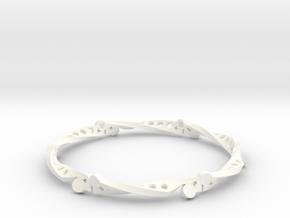 Sine Bar Mobius Bracelet in White Processed Versatile Plastic