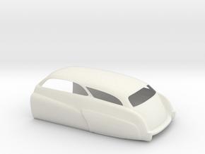 Mercury Wagon Rear in White Natural Versatile Plastic