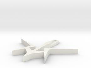 Black Knights pendant in White Natural Versatile Plastic