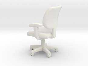 1:48 Office Chair (Not Full Size) in White Natural Versatile Plastic