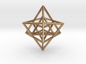 Sacred Geometry: Merkabah2 50mm 2 Nested Star Tetr in Polished Brass