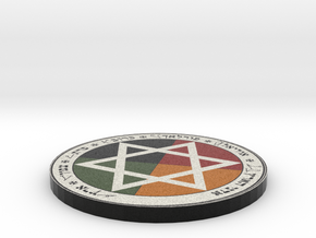 Golden Dawn Pentacle of Earth in Full Color Sandstone