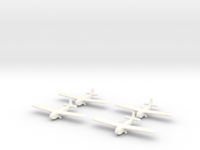 Waco Glider -1/700-(x4) in White Strong & Flexible Polished