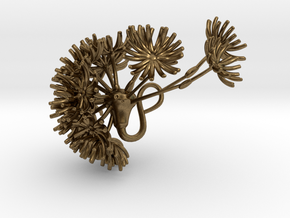 Dandelion pendant in Natural Bronze