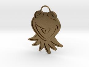 Gold Kermit Pendant in Natural Bronze